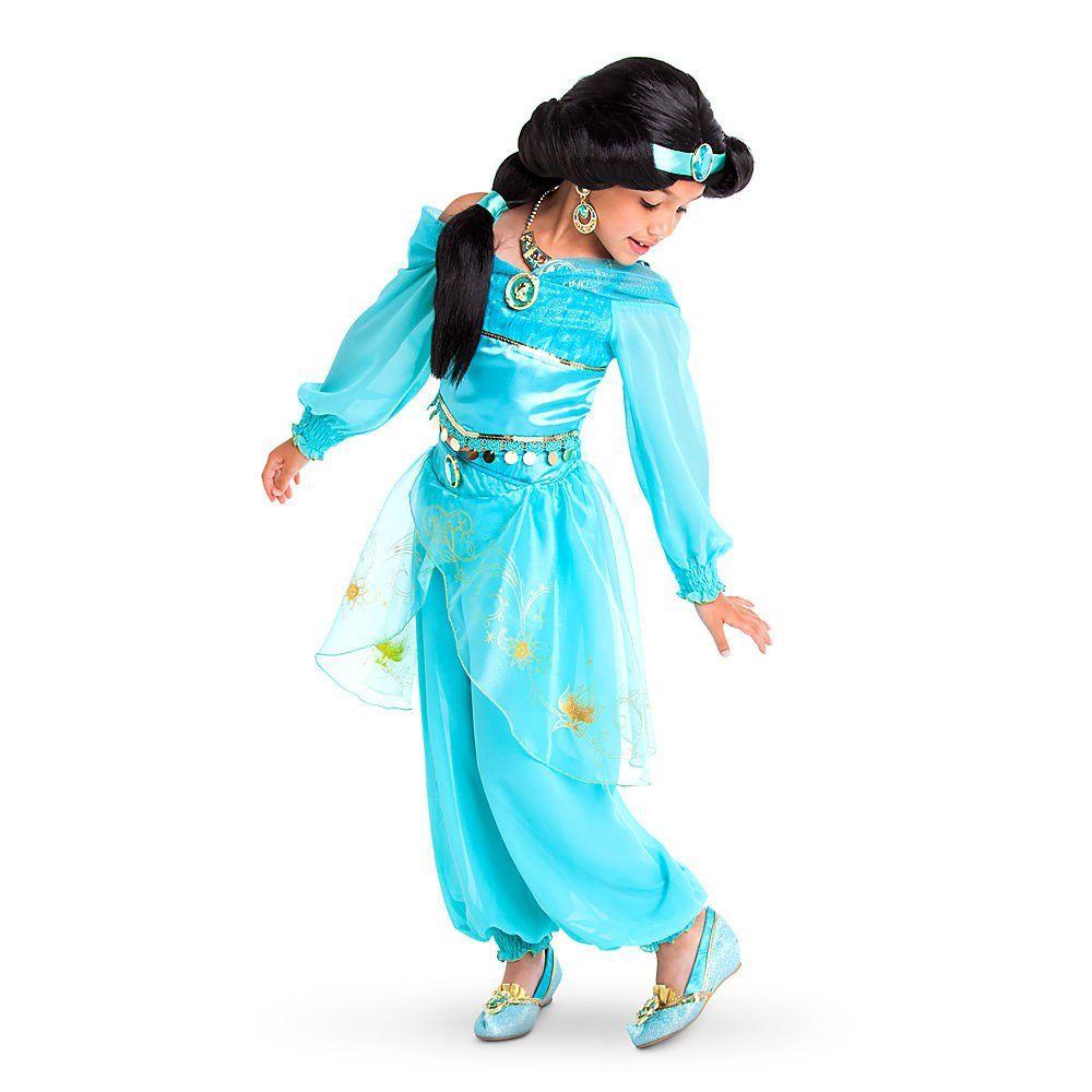 disney store little girls 2 piece aladdin princess jasmine costume - Halloween Princess Costumes For Toddlers