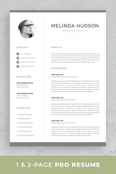 Professional Resume / CV Template with Photo