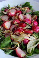 Roasted Radish and Fennel Salad with Walnut Gremolata (Cotton-Tail Salad)   - Dinner -