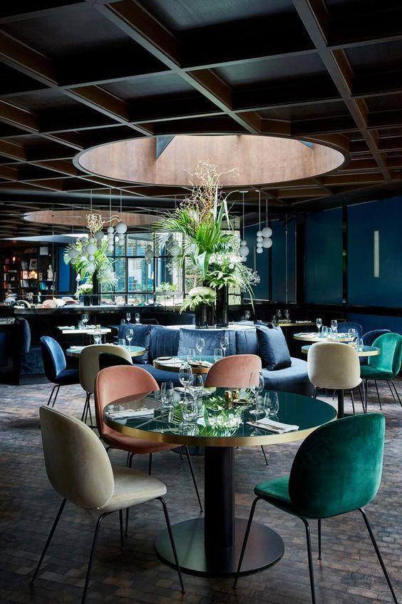 best interior designs inspired by luxury restaurants bars cafes rh pinterest com
