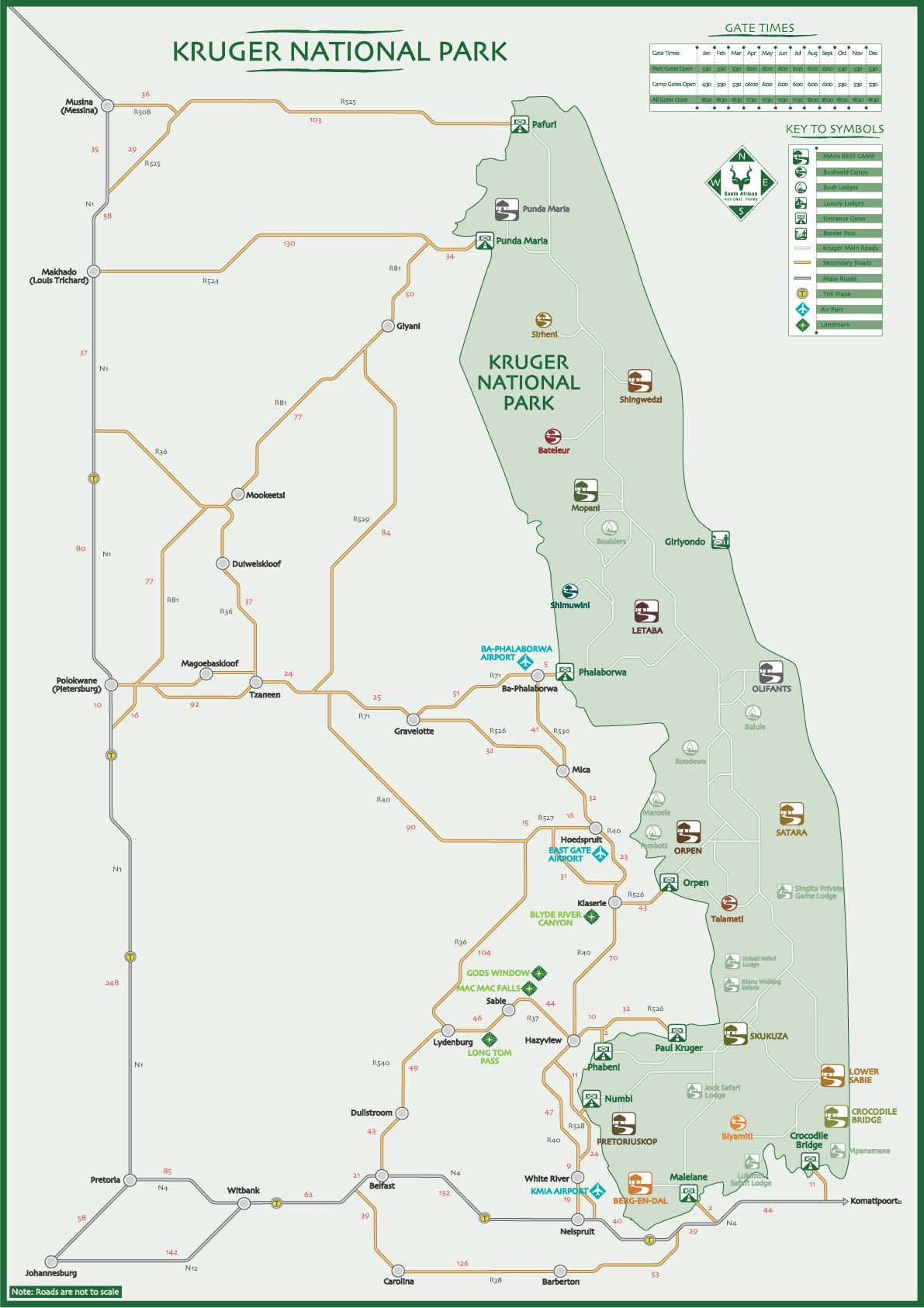 Madagaskar Karte Nationalparks.Map Of Kruger National Park South Africa Travel Maps In 2019