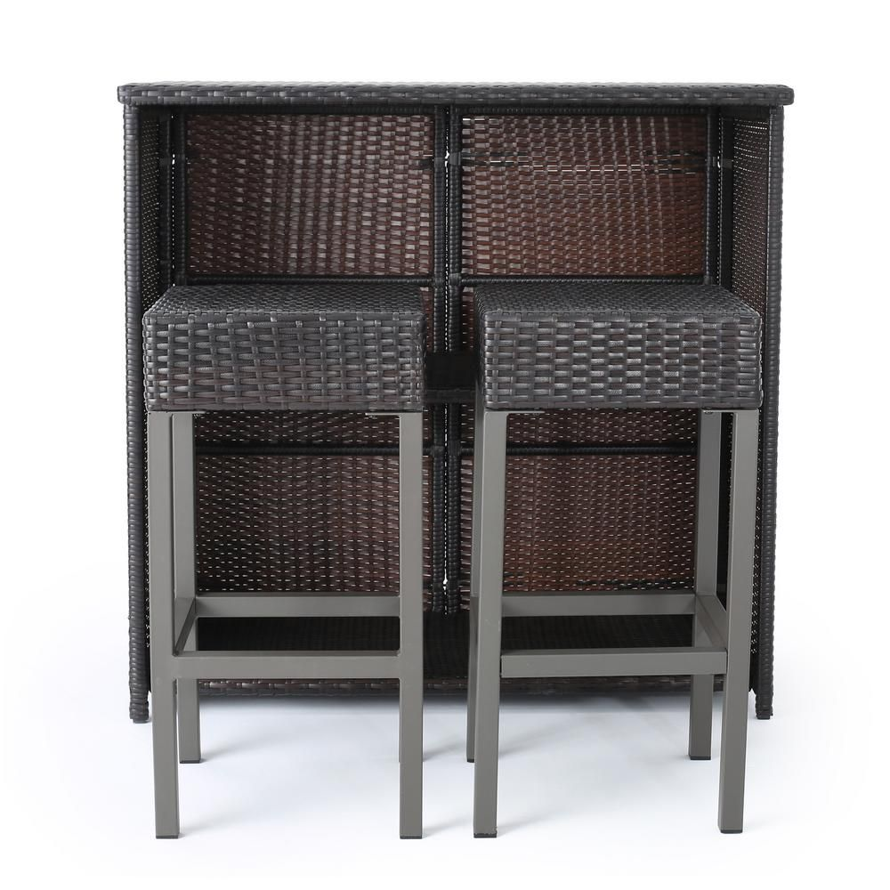 Noble House Toranto Wicker Outdoor Bar Stool 2 Pack Products