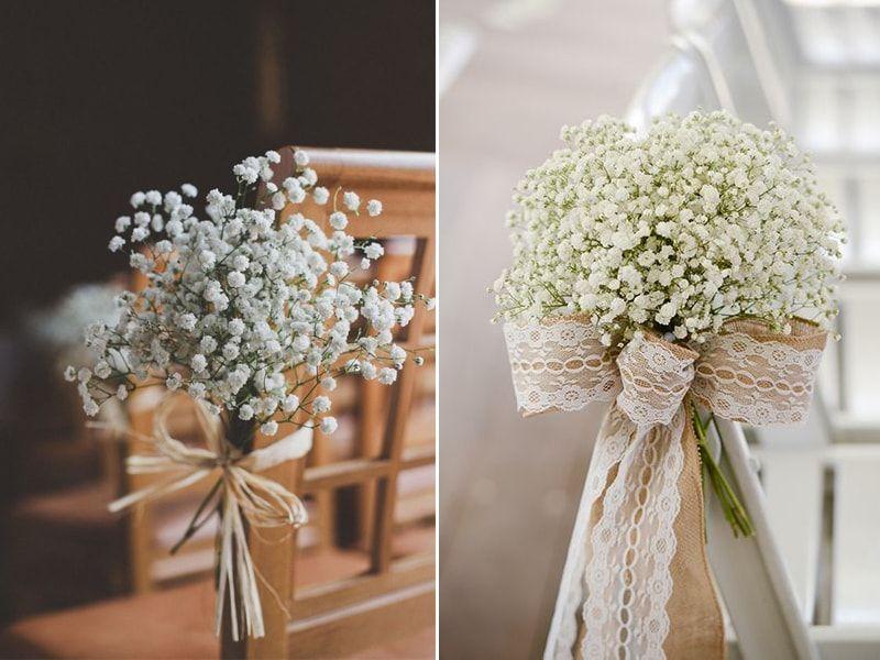 Ideias de decoração de casamento com a flor mosquitinho