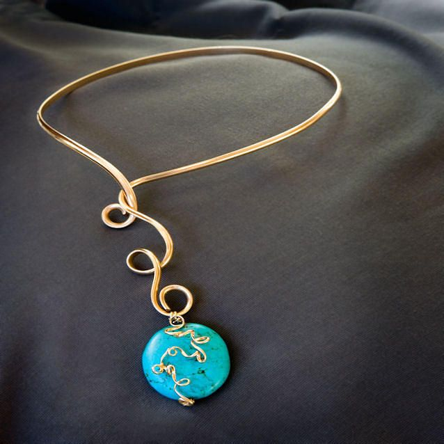 Gold wire necklace jewelry bijoux de genes pinterest gold wire gold wire necklace jewelry aloadofball Choice Image