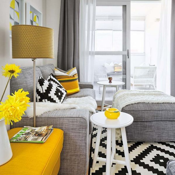 Vivacious Colorful Living Rooms Fun And Comfort: Vivacious Malaga Apartment Design With IKEA Furniture And