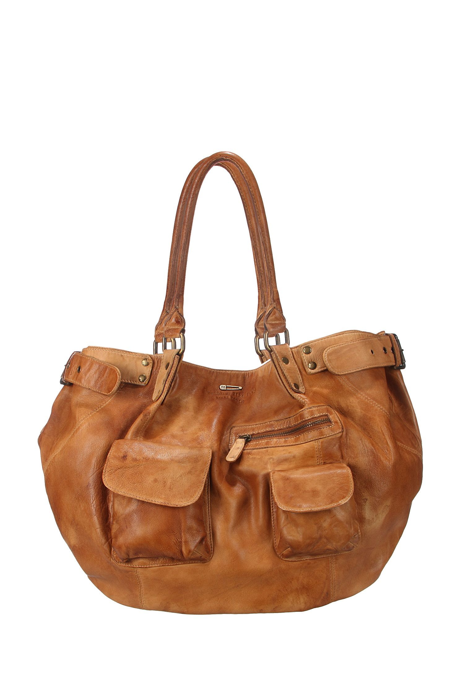 e9f1bc3e0473 Leather bag - bc95009 - Brown Ikks women on MonShowroom.com Sac Cabas Cuir,