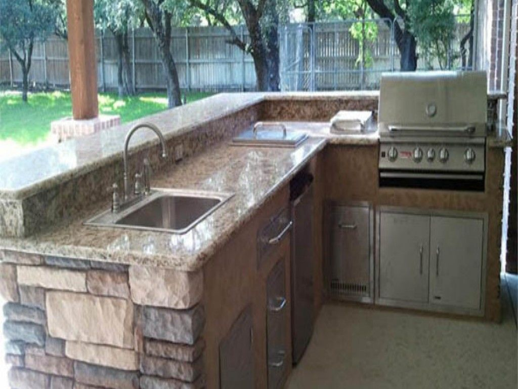 L shaped outdoor kitchens best l shaped outdoor kitchen for Outdoor kitchen bbq designs