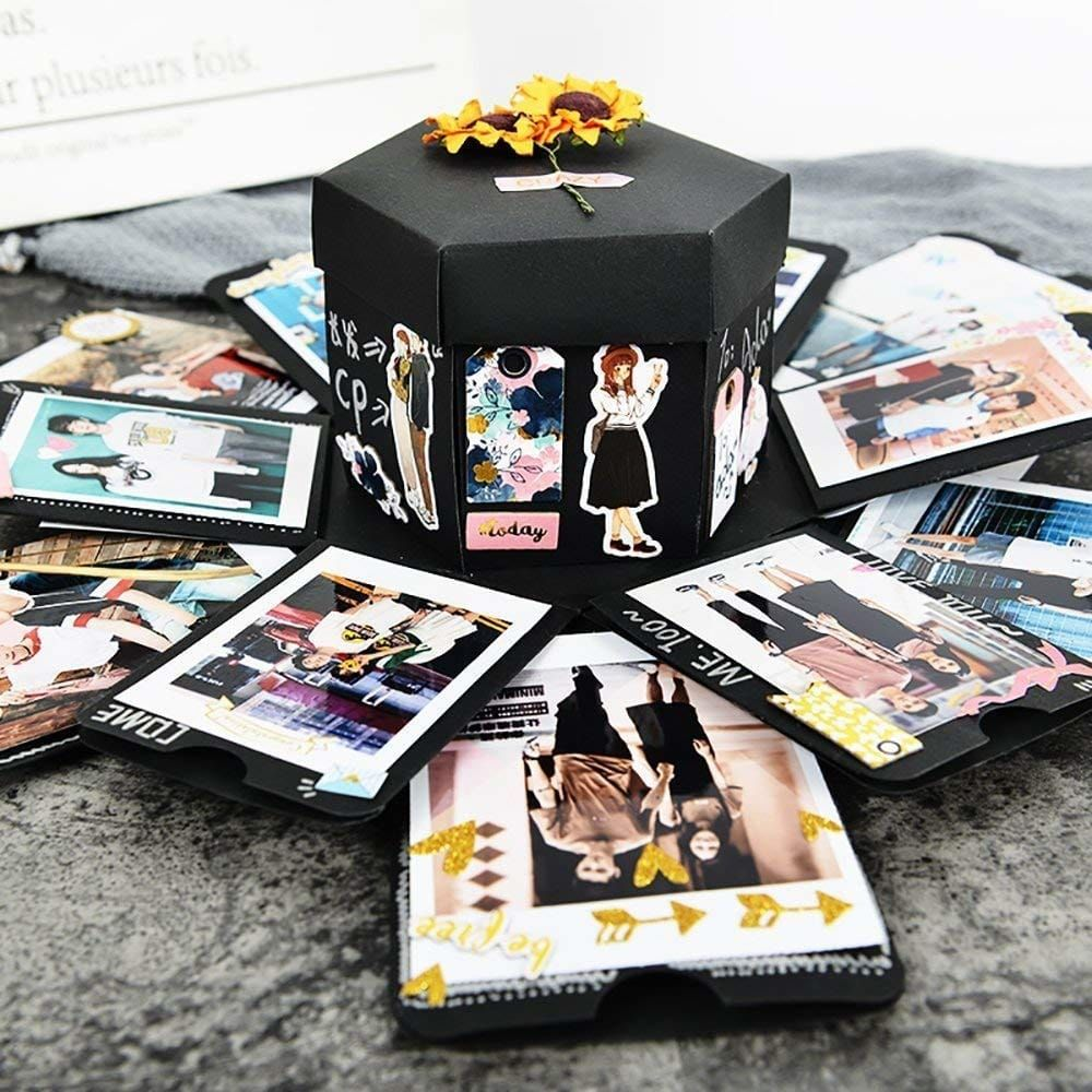 Creative DIY Explosion Box Love Memory Photo Album