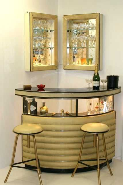 coin bar retro dans un salon lilo coin bar en 2018 pinterest r tro maison et mobilier. Black Bedroom Furniture Sets. Home Design Ideas