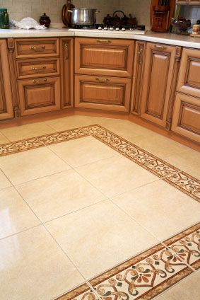 Ceramic tile floors in kitchens kitchen floor tile for Floor and decor kitchen cabinets