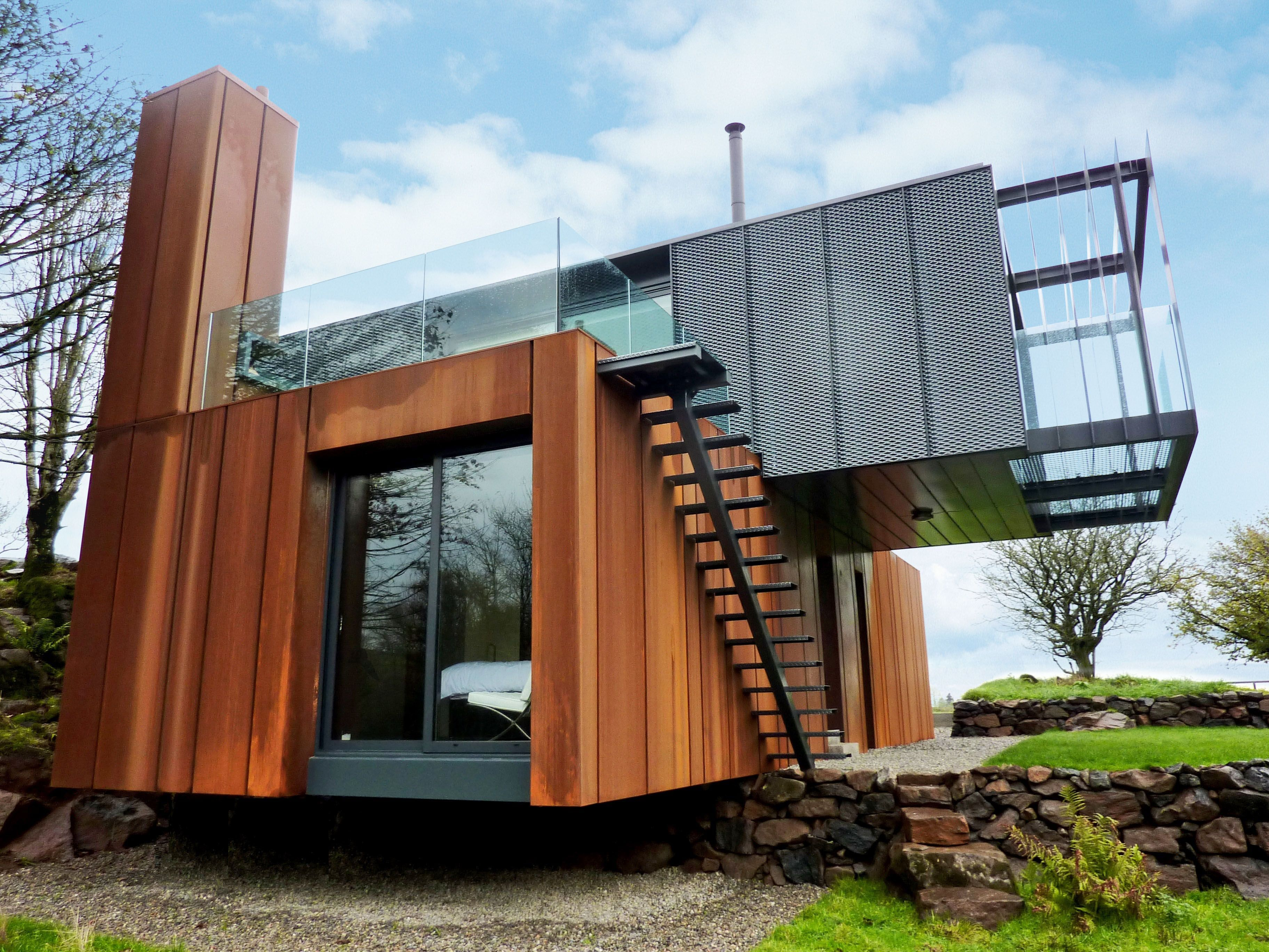 Grand Designs Container Home Kitchen And Living Space Interior