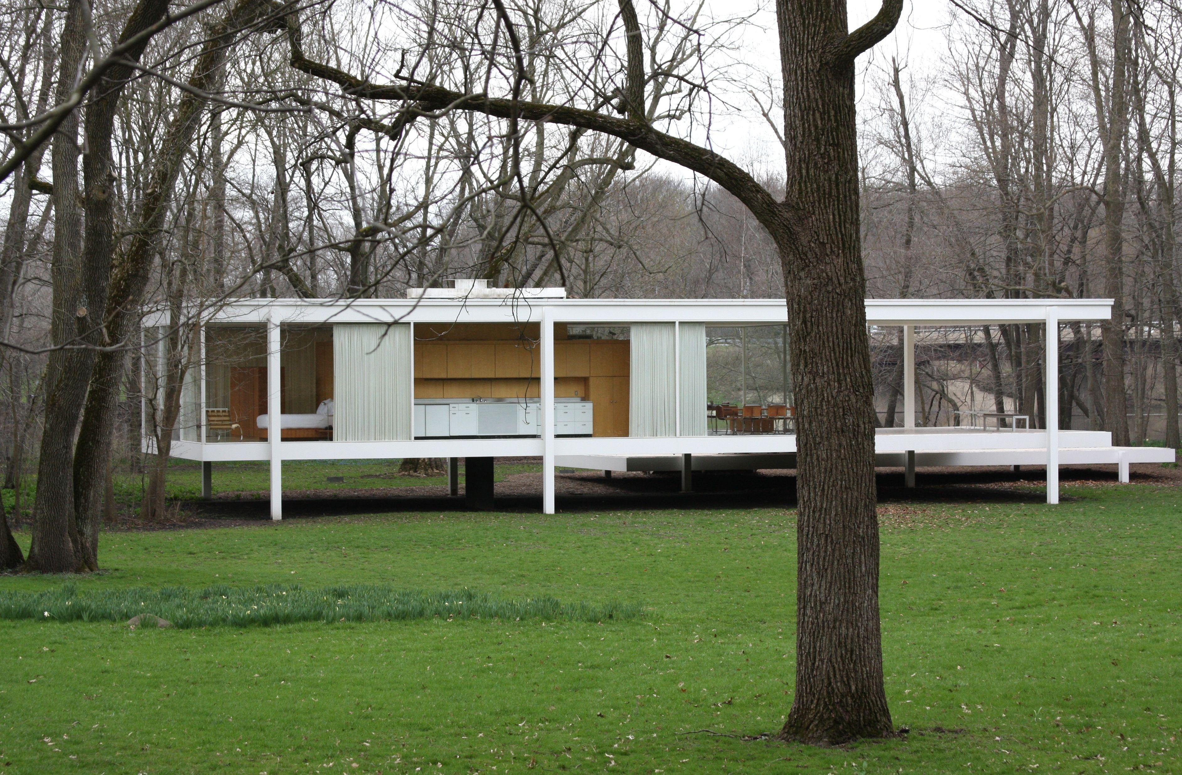 mies farnsworth house Google Search Arquitectura sXX