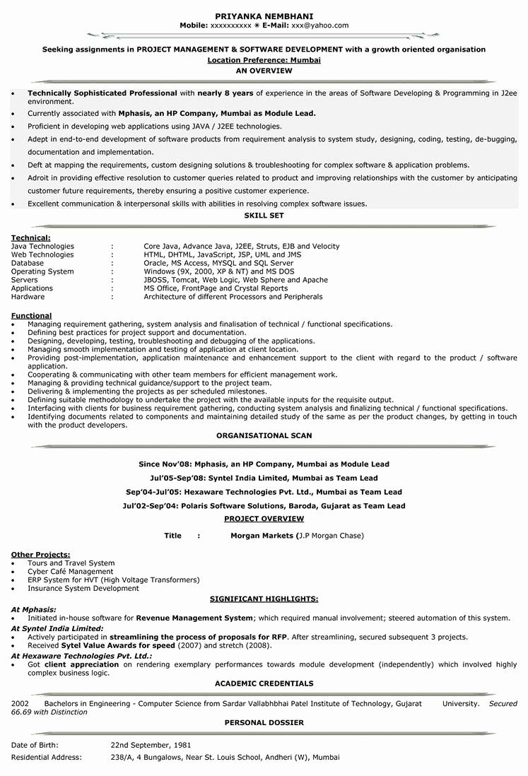20 Java Developer Resume 3 Years Experience in 2020 (With