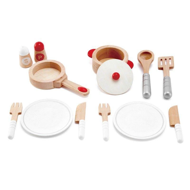 Set De Utensilios De Cocina De Madera Con Accesorios Para Jugar A