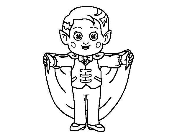 Dibujo De Vampiro Simpático Para Colorear Dibujos De Halloween