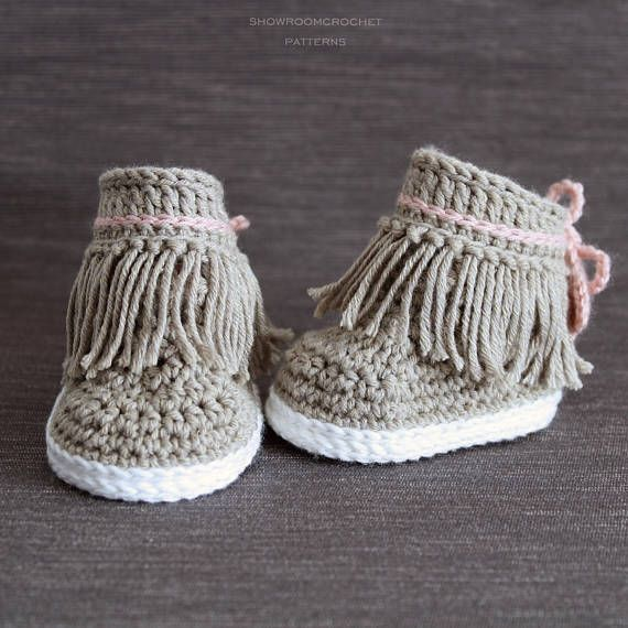 Patron de crochet Botines Dakota para bebe | calzado a croche ...