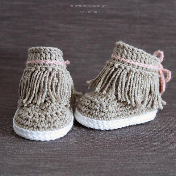 Crochet PATTERN. Dakota baby sneakers | Ganchillo | Pinterest ...