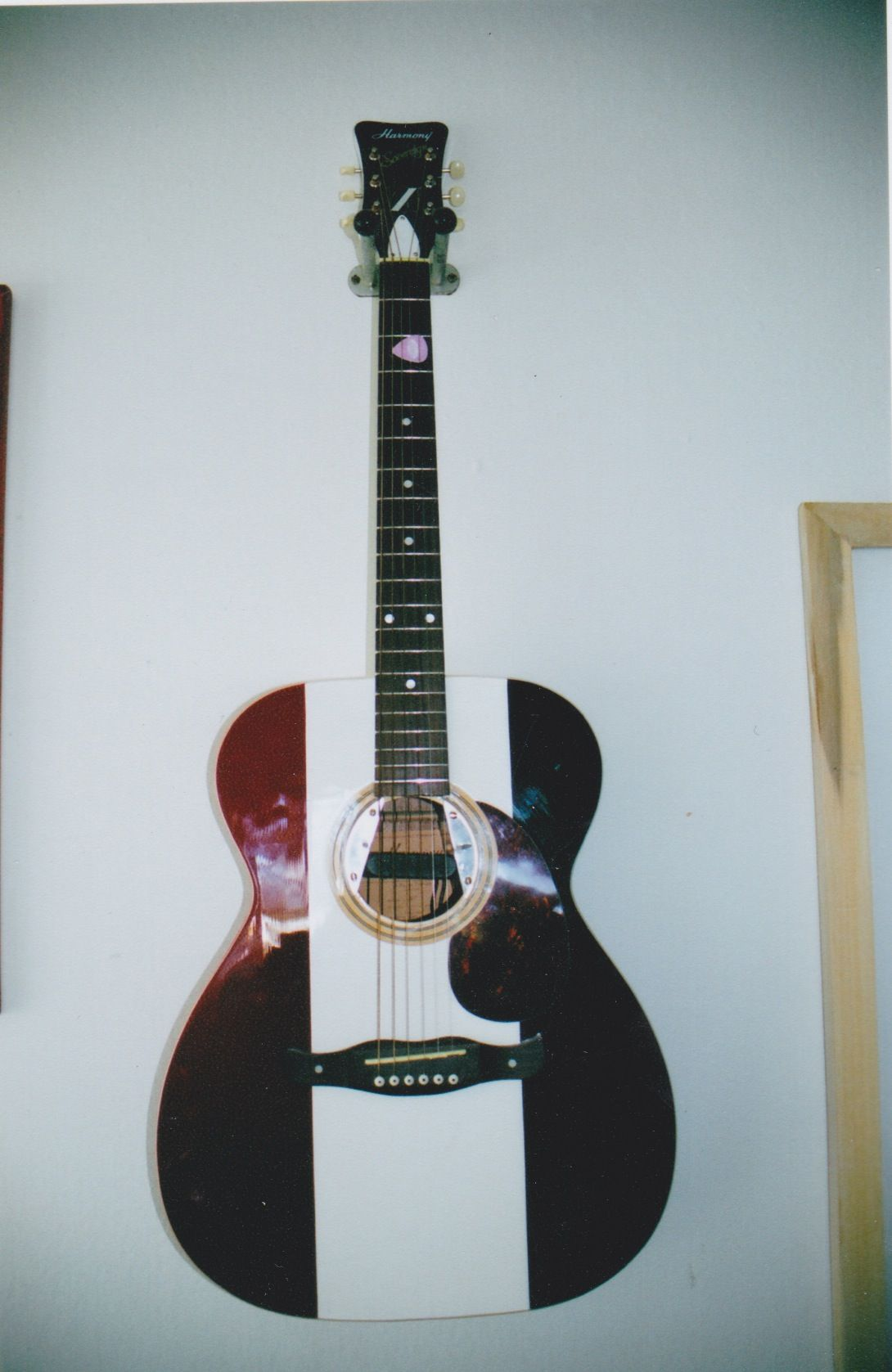 Red White And Blue Harmony Sovereign Gutiar Guitars Pinterest