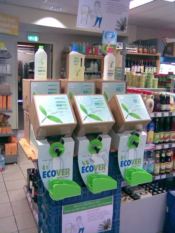Ecover-Refill Station   Space   Zero waste store, Recycling