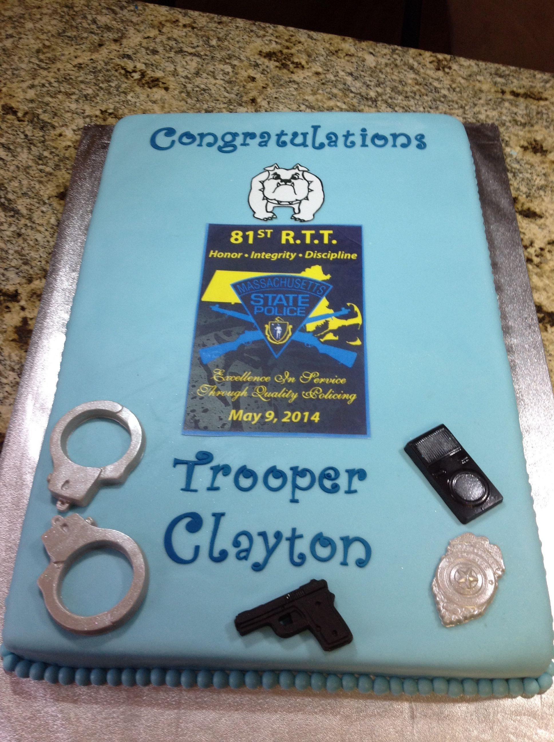 State Trooper Graduation Cake | Cakes in 2019 | Cake, Cake