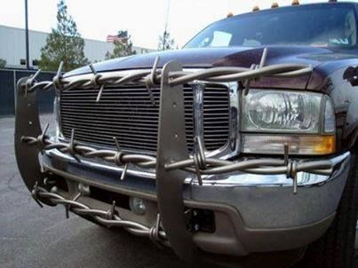 Now Thats A Brush Guard Brushguard Barbedwire Funny Redneck