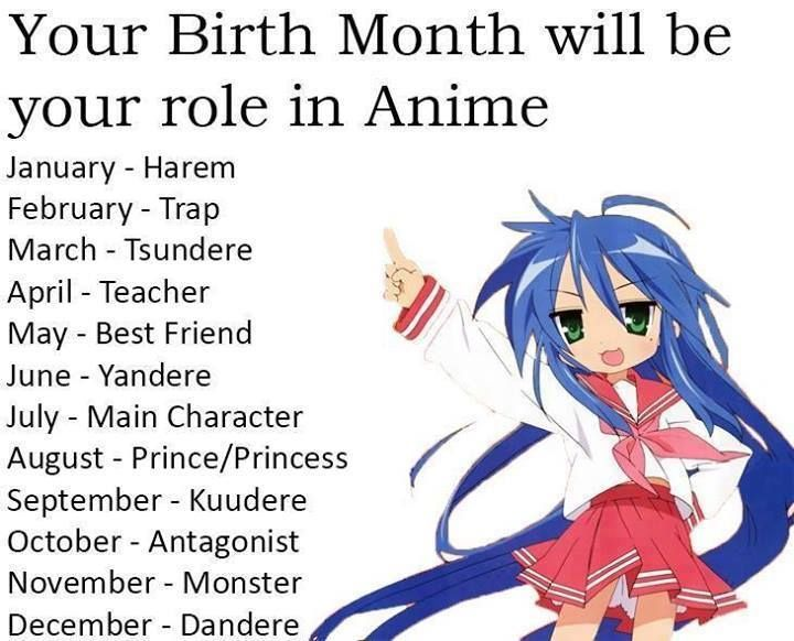 Anime Character Birthday 5 May : Your birth month will be role in anime i got the main