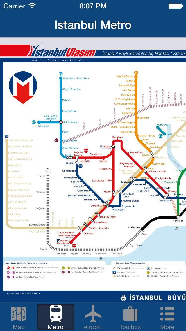 Istanbul Subway Map 2015.Iphone App Istanbul Offline Map City Metro Airport 4 Now