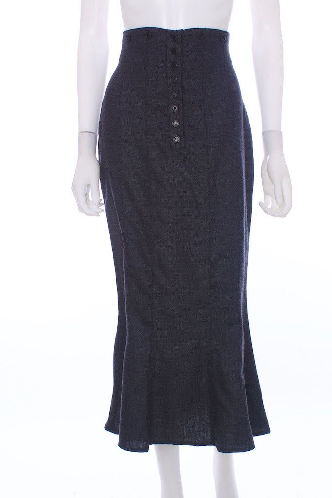 SONIA SPECIALE Wool High Waist Italian Skirt Size 6 – London Couture