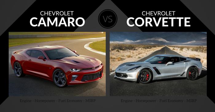 Chevrolet Camaro vs. Chevrolet Corvette