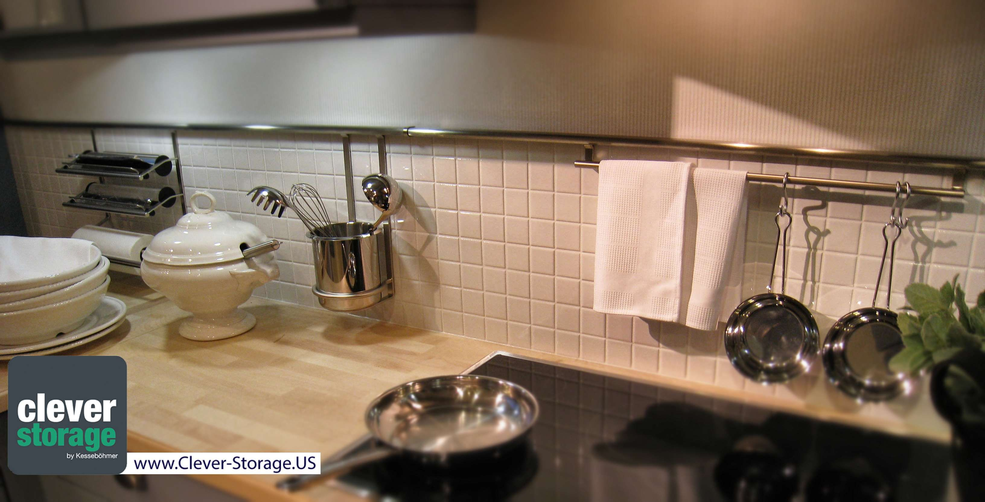 The linero backsplash is a great way to organize and keep things off