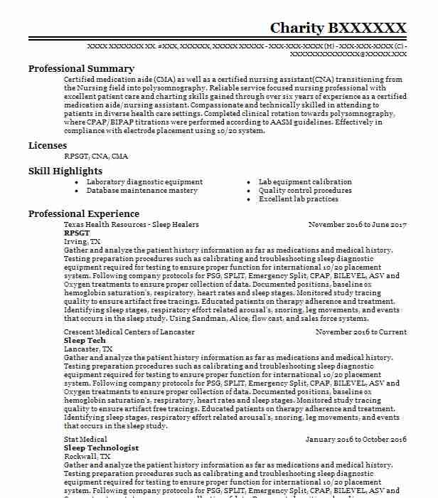 Pin by Lisa T on RPSGT Pinterest Resume examples - healthcare resumes