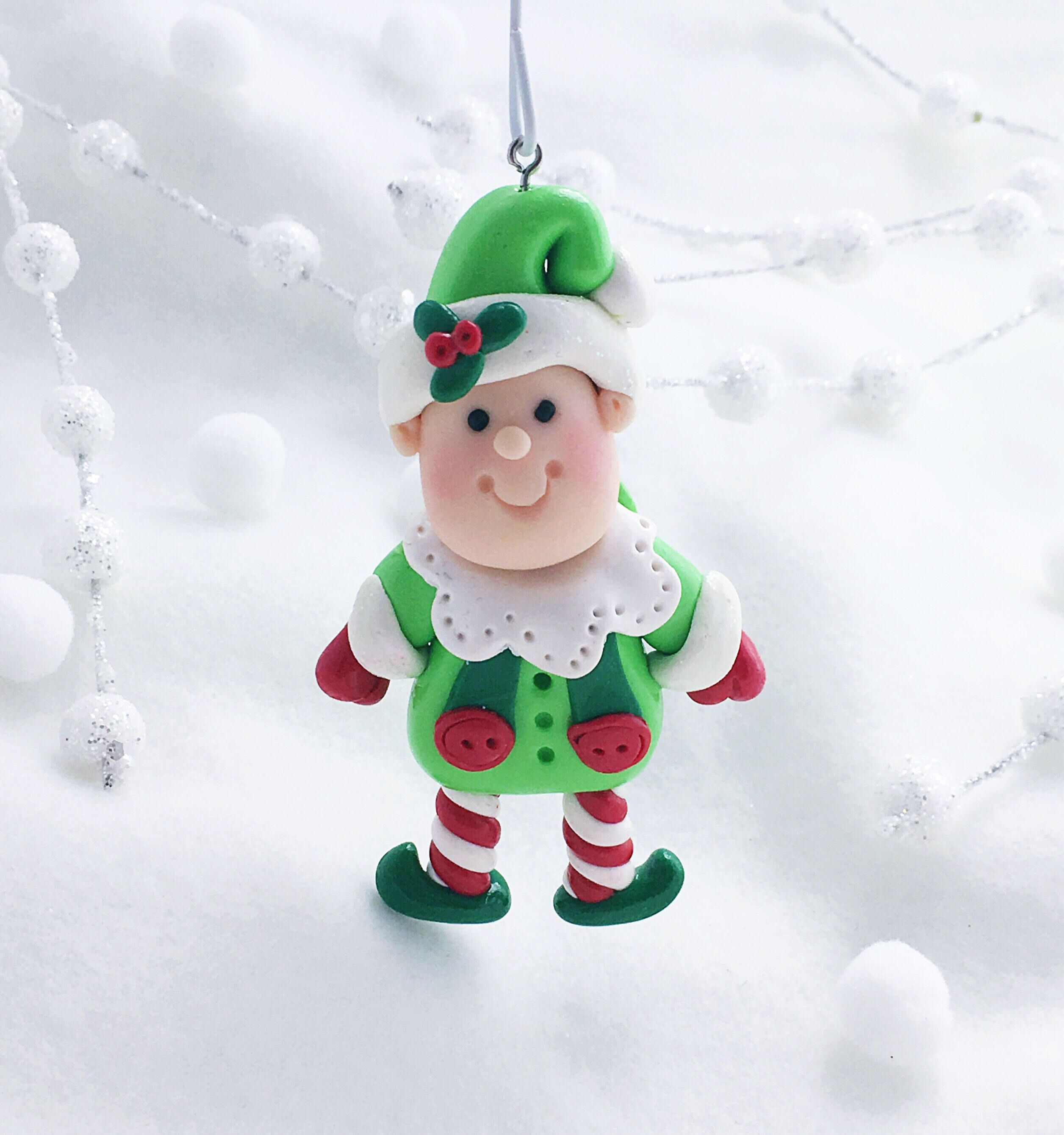 Handmade Santa S Elf Ornament Elf Ornament Christmas Elf Etsy Elf Ornaments Funny Ornaments Christmas Ornaments