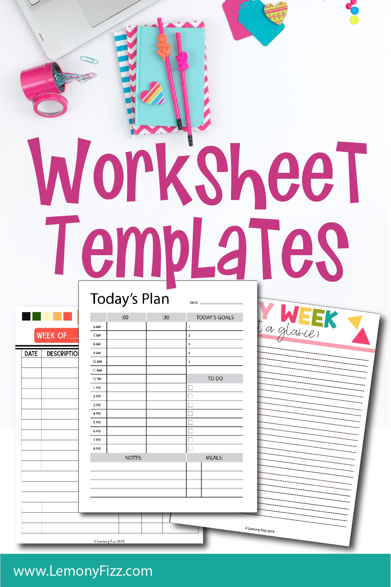 Worksheet Printable Illustrator Templates Recipe cards