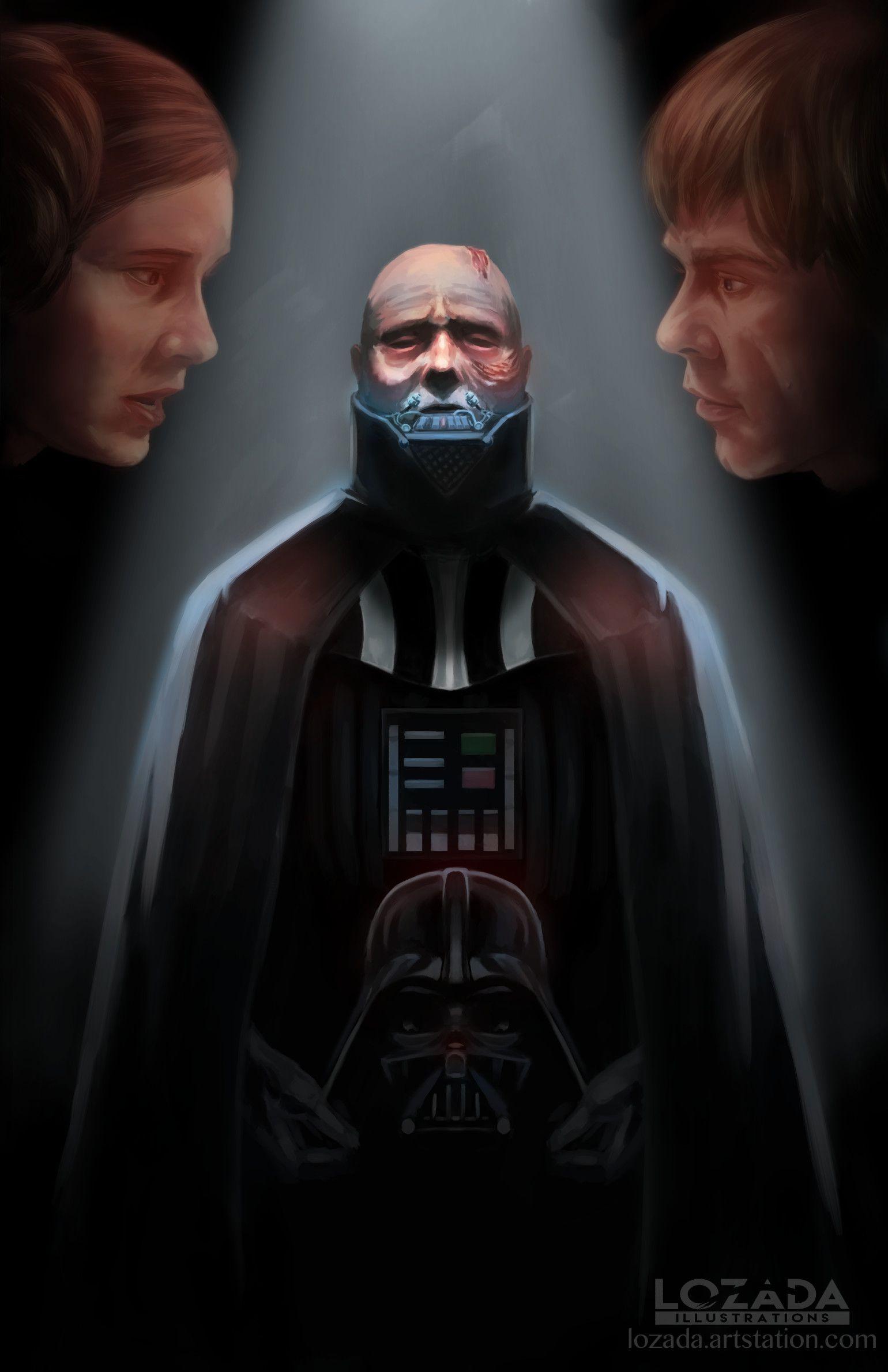 Hayden Christensen Darth Vader Unmasked