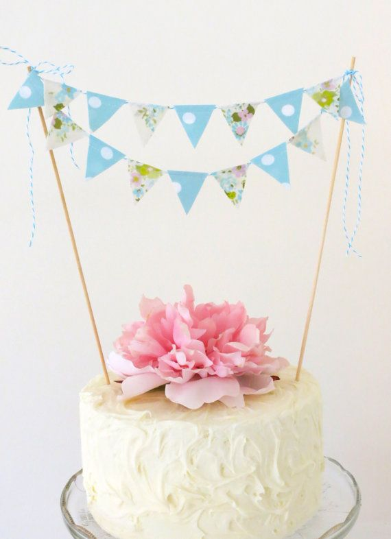 Cake Bunting Forget Me Not Cake bunting Forget and Cake