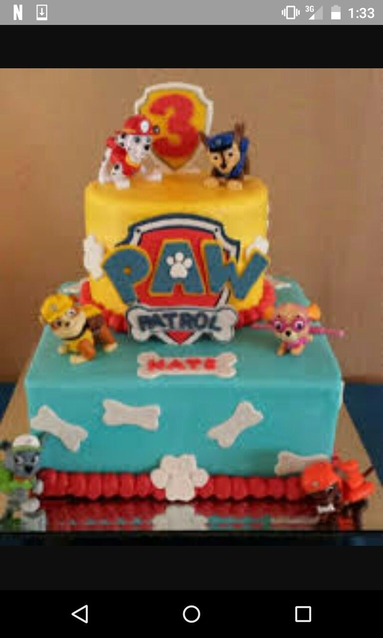 Paw Patrol Cake For Birthday Boy