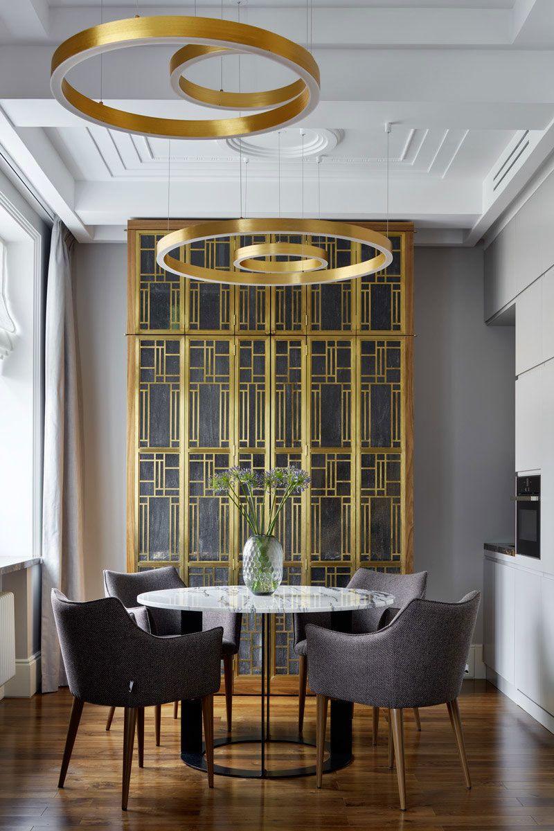 〚 Эффектный дизайн с элементами ар-деко в небольшой квартире в Москве (47 кв. м) 〛 ◾ Фото ◾Идеи◾ Дизайн