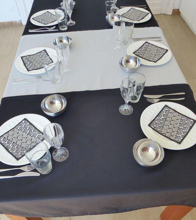 Tischdecke Fur Ausziehbaren Tisch Schwarz Grau Ausziehbarer Tisch Tischdecke Tisch
