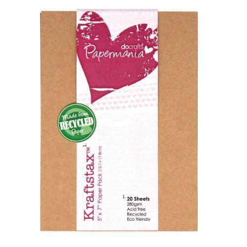 Papermania 7 x 5-inch Kraftstax Premium Kraft Paper Inserts Eco Cardstock, Pack of 20, Brown Papermania http://www.amazon.co.uk/dp/B00CK4WOVC/ref=cm_sw_r_pi_dp_aMWBub0N9R31J