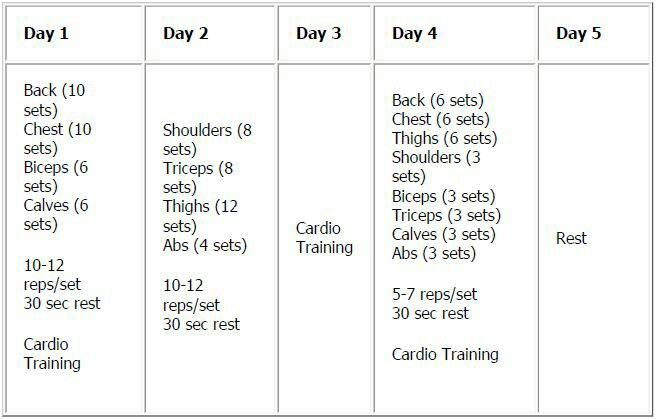 5 Day Workout Routine For Fat Loss   sport1stfuture org