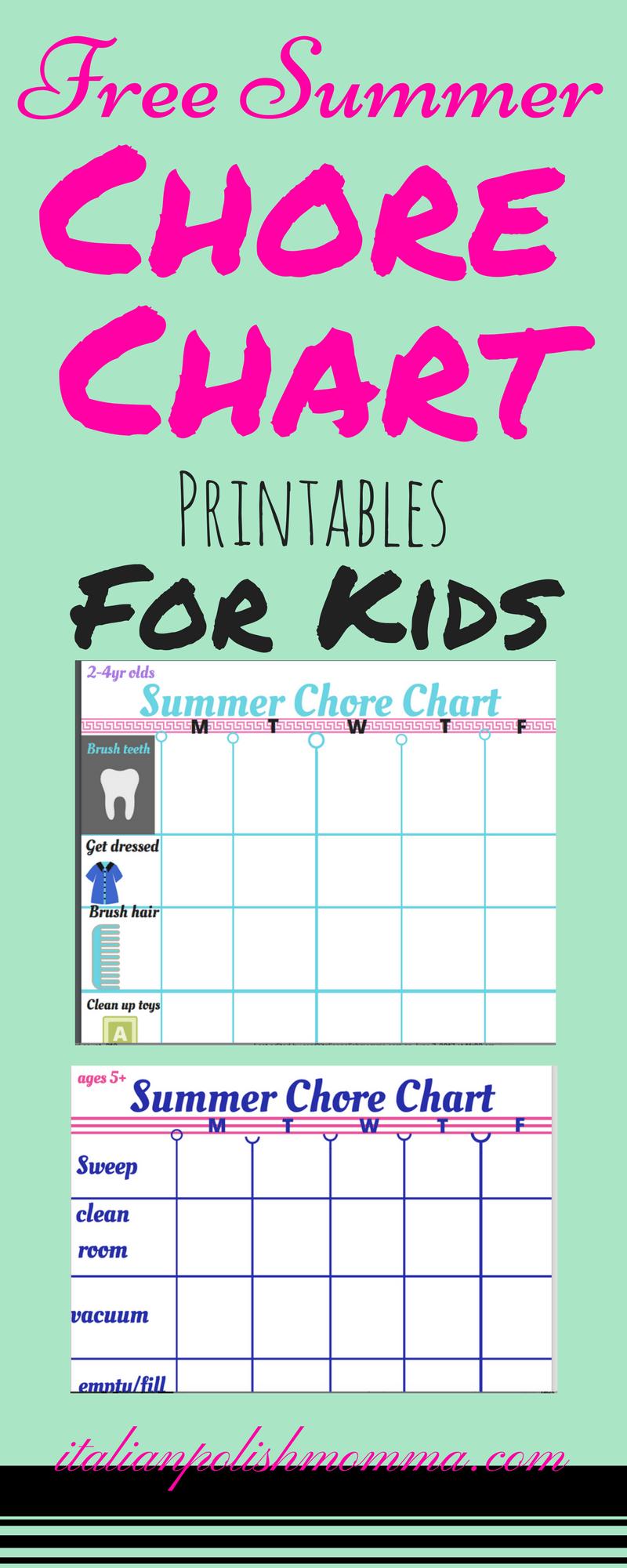 Kid Chore Charts