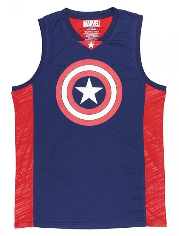 Marvel Comics Captain America Basketball Jersey  c3b5073b9