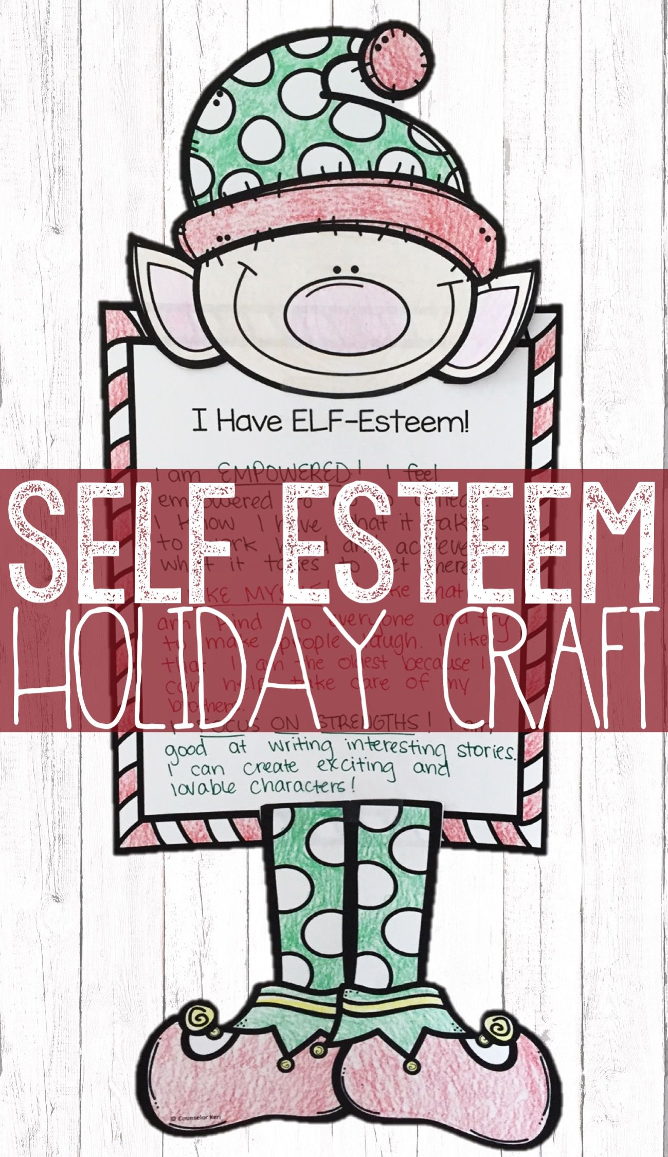 Christmas Classroom Guidance Lesson Self Esteem Activity