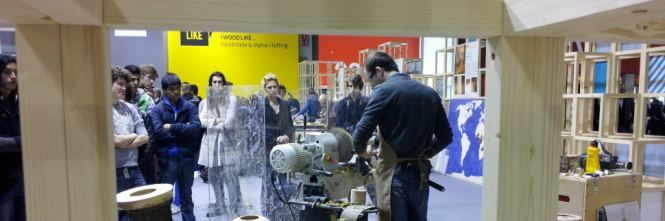 """I Wood Like: il legno si fa design al Salone del Mobile. Al SaloneUfficio dimostrazioni in """"presa diretta"""""""