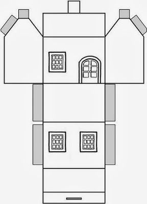 Pin by LadyT   on BUILDINGS | House template, Paper houses