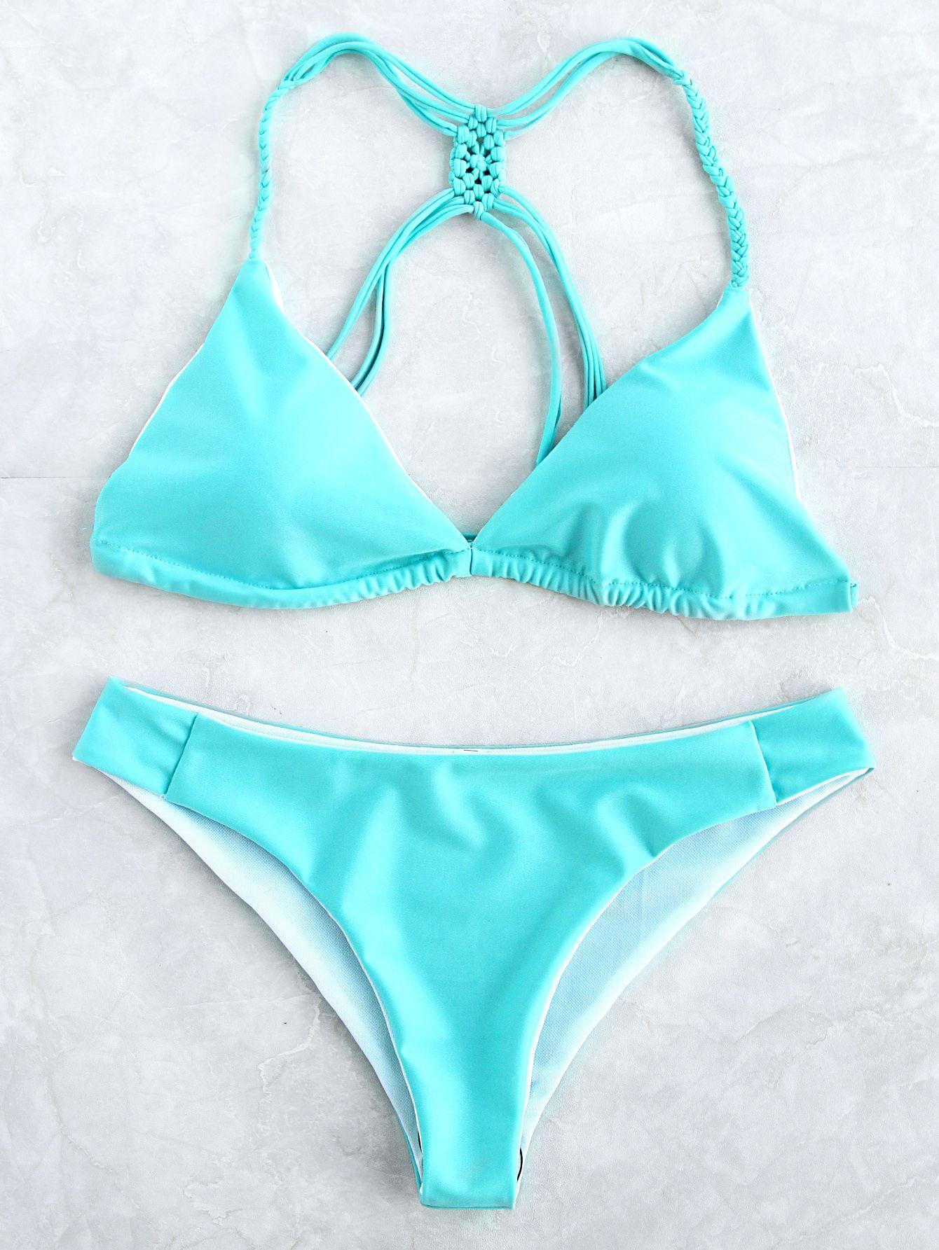 97e3e14cd38d1 Jade Blue Strappy Back Triangle Bikini Set