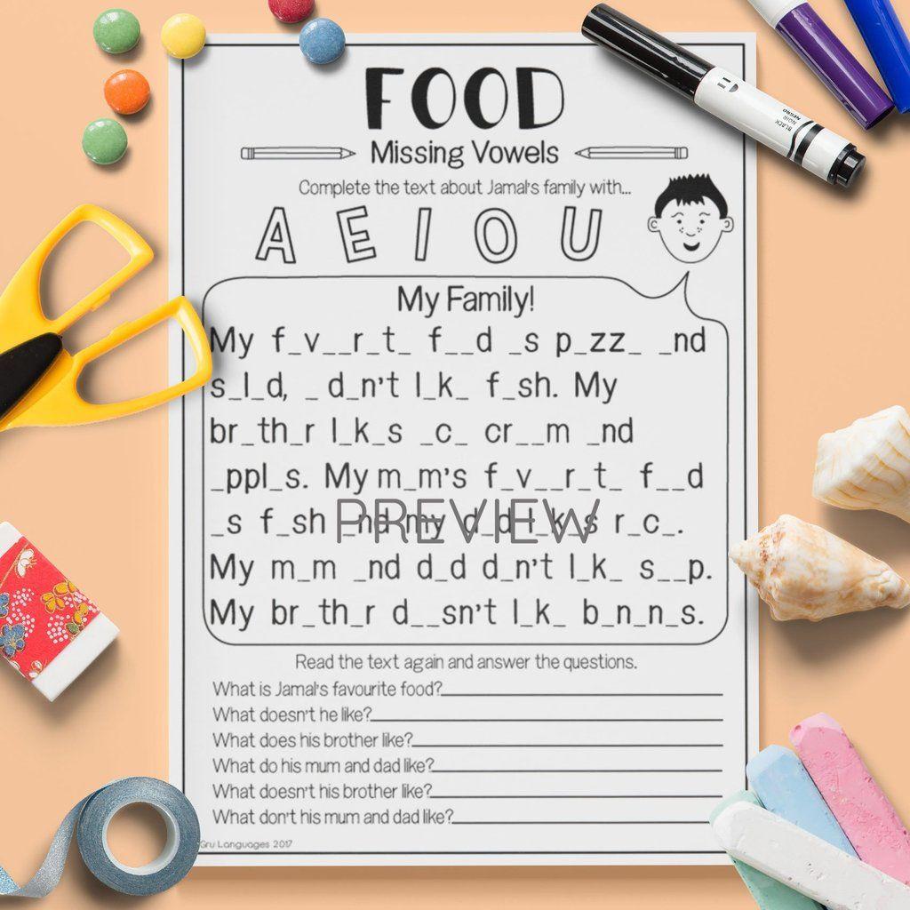 Food Missing Vowels