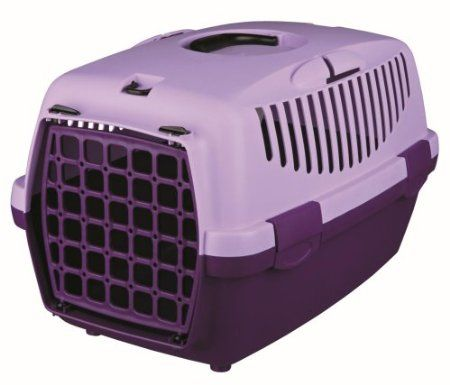 Trixie Pet Carrier For Cats Small Dogs Or Rabbits Violet Lilac Amazon Co Uk Pet Supplies Small Pet Carrier Plastic Dog House Pet Carriers