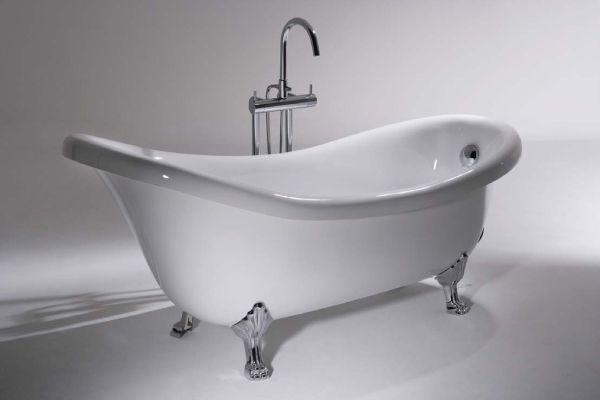 置き型バスタブ 洋風バスタブ B25709w B バスタブ 浴槽 シャワー水栓