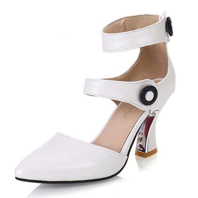 Heels Pointed toe Buckle shoes for women 3 Colors and sizes to 12 |  Products | Pinterest | Products